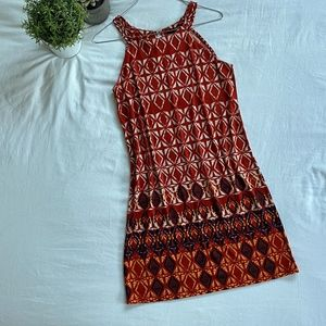 Banana Republic Dress (rust + cream)